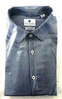 Ryan Seacrest Men's Slim Fit Dress Shirt, Blue Print, Size 16.5 32/33