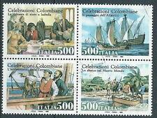 1992 ITALIA USATO COLOMBO BLOCCO - K4