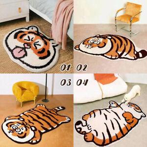 Cut Tiger Plush Carpet Bedroom Anti-slip Floor Mat Faux Fur Area Rugs Foot Pads
