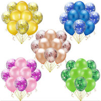 10pcs/lot 12inch Colored Blue Pink Confetti Balloon Birthday Wedding Decorations