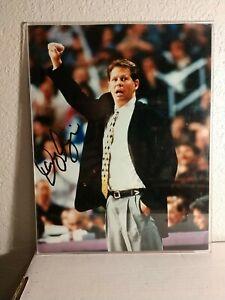 "Danny Ainge AUTOGRAPHED NBA Phoenix Suns Coach Basketball Photograph - 14"" x 11"""