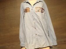 Westbound Woman Button Up Shirt SIZE LARGE WESTERN TOWN LONG SLEEVE BLUE