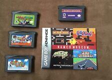 Lot 4 Gameboy Advance Games Super Mario Advance Sonic Battle Mario Luigi Namco M
