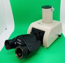 Nikon Microscope Ergonomic Ultra Wide Trinocular Head Optiphot Uw