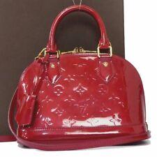 Auth Louis Vuitton Vernis Alma BB 2ways Shoulder Hand Bag Crossbody Women G1856
