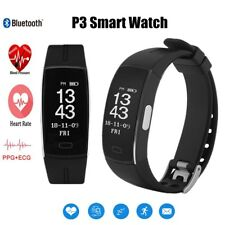P3 Smart Sport Watch Fitness Tracker ECG+PPG Heart Rate Blood Pressure Monitor