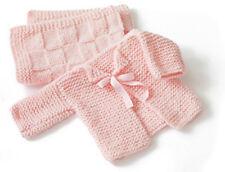 Baby's First Cardigan & Blanket  Aran Wool  3-6 mths Easy Knitting Pattern