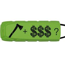 Exalt Paintball Bayonet Barrel Condom / Cover - Le Axe + Cash - Lime / Black