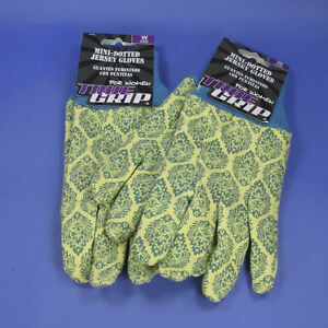 GLOVES TRUE GRIP MINI PVC DOTTED JERSEY YARD GARDENING GLOVES FOR WOMAN 4 PAIRS
