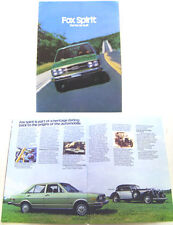 Audi 80 Fox 2-dr 4-dr Wagon 1978 Original USA Market Large Format Sales Brochure