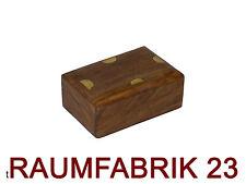 Ethno Design Schmuckschatulle Schmuck Kiste Box Truhe Holz Messing Art Deko NEU