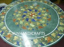 green 3' dinnr dining coffee center corner lunch inlay malachite table top Furse