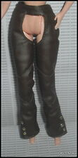PANTS BARBIE MATTEL DOLL HARLEY DAVIDSON BROWN FAUX LEATHER CHAPS PANTS BOTTOM