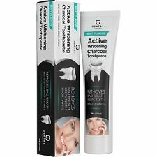 Activated Charcoal Teeth Whitening Toothpaste, Removes Bad Breath, Mint Flavor