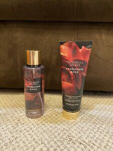 Victoria's Secret Forbidden Rose Body Mist And Lotion