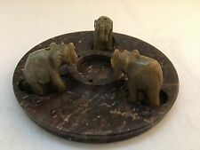 Incense Burner Stoneware – Three Elephants Design – Made in India
