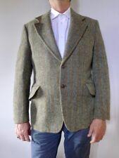 vintage retro 70s M men's Harris Tweed wool sports jacket coat green very good
