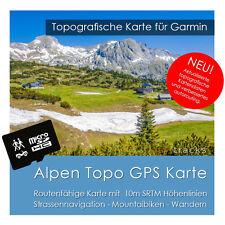 Alpen Topo Karte GPS 10m Höhelinien 4GB SD Garmin Dakota Oregon Monterra Montana