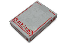 Black Lions Playing Cards Deck Red Color Brand New Sealed