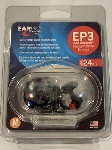 NEW Ear Pro By Surefire EP3 Sonic Defender Plugs 1 Pair Medium Size  (NPR 24 dB)