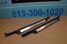 06-08 W251 MERCEDES R350 R320 REAR LEFT RIGHT DOOR STEP SILL PLATE MOLDING BLACK