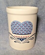 Vintage National Housewares HEART OF THE COUNTRY Utensil Crock Canister Taiwan