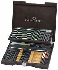 Faber-Castell PITT Monochrome Boîte en bois avec accessoires - 112971