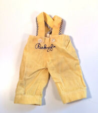 "Vintage I Love Lucy ""Rickey Jr."" Yellow Corduroy Pants With Embroidery - Rare"