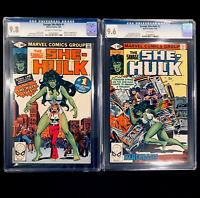 Savage SHE-HULK #1 & 2 CGC 9.8/9.6 NM+ Origin & 1st app. of Jennifer Walters