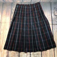 af52c343c Genuine Pre owned Women's Vintage Wool Burberry Blue Check Skirt waist 17.5