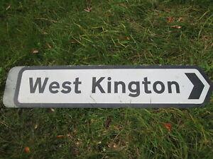 West Kington road sign . road sign. street sign.traffic sign.