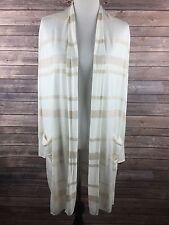 Merona Women's Ivory White Long Sleeve Duster Cardigan Sweater Size XS NEW
