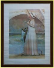 Sposa sotto il ponte del fiume Fotolitografia Innocenzo Melani con certificato