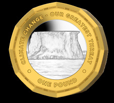 More details for new !!!! one pound 2020 british antarctic highlights climate change in stock