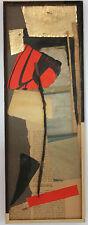 MICHAEL ARGOV ISRAEL PEINTURE COLLAGE COMPOSITION ABSTRAITE 1959