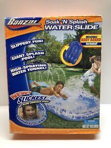 Banzai Soak 'N Splash Water Slide, Summer Fun Outside Toy!  NEW