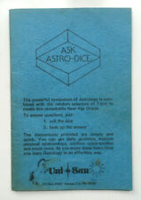 ASK ASTRO-DICE Divination Guide Booklet UNI-SUN Astrology Tarot Occult Oracle