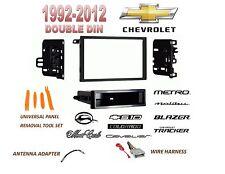 1992-2012 CHEVROLET IMPALA MALIBU S10 2 DIN CAR STEREO INSTALL DASH KIT, HARNESS