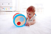 HAPE E0333 Baby Drum Wooden Musical Instrument Babies Infant Toddler 6 Months+