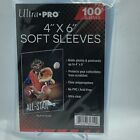 """(1) Ultra Pro 4"""" x 6"""" Soft Sleeves Photo Acid Free Clear Poly"""