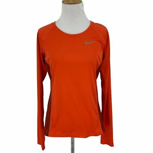 Nike Dry Miler Long Sleeve Top Women's Size S Sweat Wick Stretch Workout Shirt*