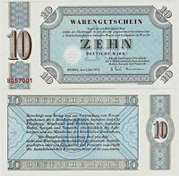 Banknote Warengutschein UNC 10 Deutsche Mark 1973 Bethel P-NLB5 SEHR SELTEN