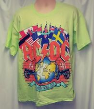 AC/DC Band 1996 Men's Large Neon Green Graphic T-Shirt New without Tags