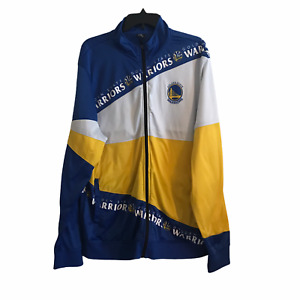 NBA Golden State Warriors Jacket Mens XXL 2XL Full Zip Mock Neck Colorblock