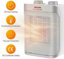 1500W Thermostat Ceramic Space Heater ETL Listed Hot & Cool PTC Heater Portable