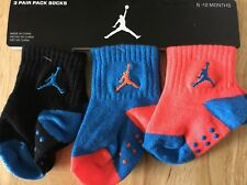 Jordan 3pk So Class Baby Toddler Size 6-12 Months Blue Black Orange