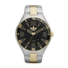 NEW ADIDAS TWO TONE STAINLESS STEEL WITH BLACK&GOLD DIAL MEN WATCH-ADH2739