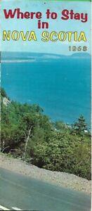 Official 1968 NOVA SCOTIA Hotel Motel Inn Tourist Cabin Camp Lodge Hostel Guide