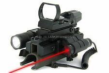 SKS Apocalypse Edition Reflex Sight w/ Scope Mount, LED Flash Light & Red Laser