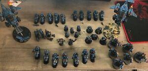 painted ultramarines army warhammer 40k miniatures
